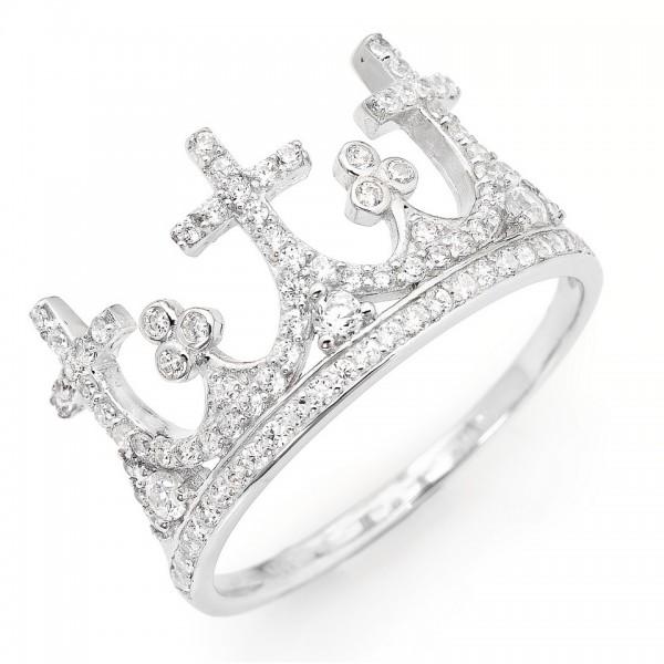AMEN Ring Silber Kreuz Gr. 58 AC3-18