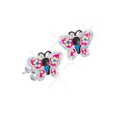 SCOUT Ohrschmuck silber, pink Schmetterlinge 262126100