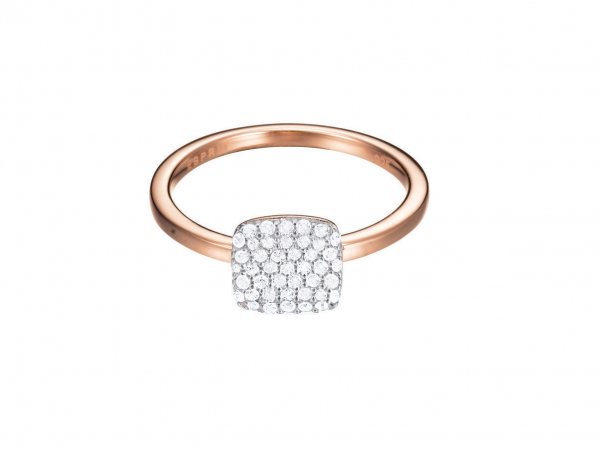 ESPRIT Ring ES-glam square rose ESRG92811C180