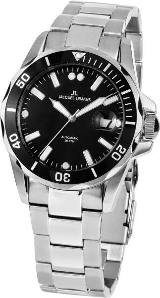 Jacques Lemans Herren-Armbanduhr Liverpool Diver Automatik 1-2089E