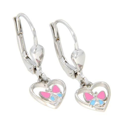 Ohrpendel Silber 925 Schmetterling im Herz