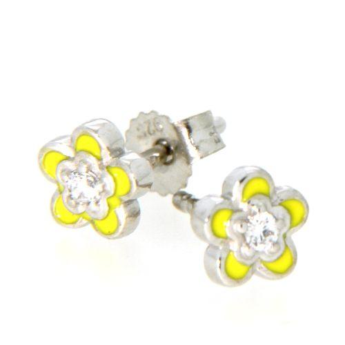 Ohrstecker Silber 925 Blume gelb
