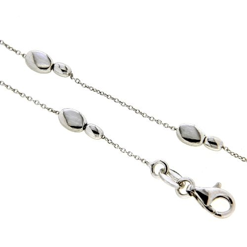 Fußkette Silber 925 rhodiniert 24 cm + 2 cm