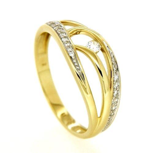 Ring Gold 333 Zirkonia Weite 56