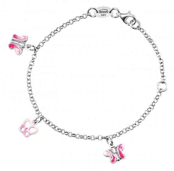 SCOUT Armband rosa Schmetterlinge 260234100