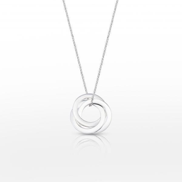Beka&Bell Family Kette 3 Ringe silber 42-45 cm gravierbar