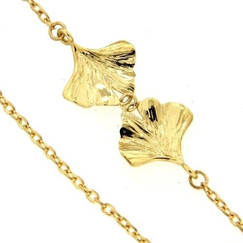 Kette Gold 333 45-42 cm Ginkgo