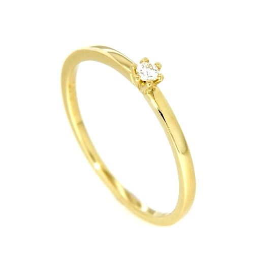 Ring Gold 585 Brillant 0,05 ct. Weite 57