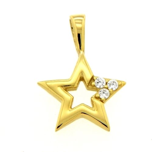 Anhänger Gold 333 Zirkonia Stern