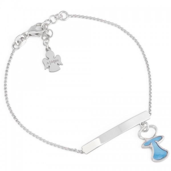 AMEN Armband 16+ 3 cm Silber BCIUB2