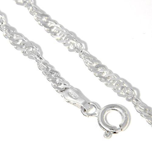 Singapurkette (S50) Silber 925 45 cm