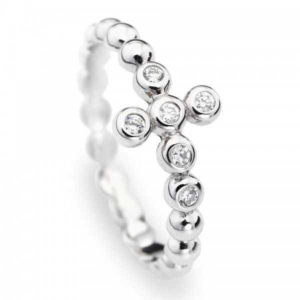AMEN Ring Silber Kreuz Gr. 56 ABOBB-16