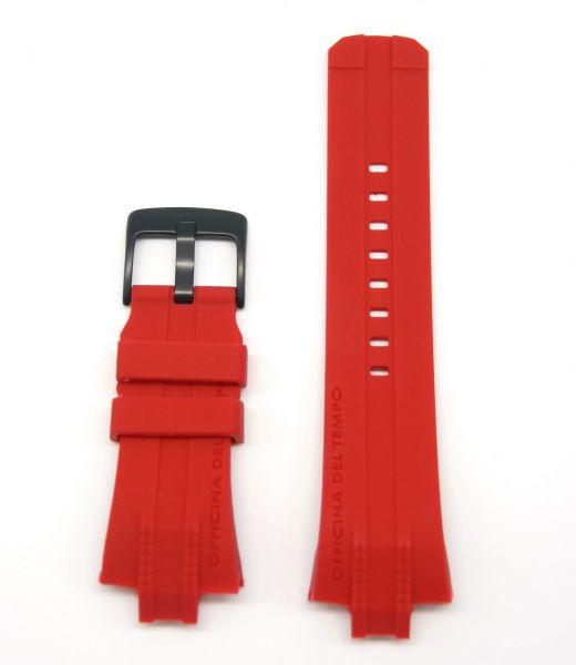 Original Ersatzarmband OFFICINA DEL TEMPO BGY2822BR Silikon rot für OT1030/OT1040