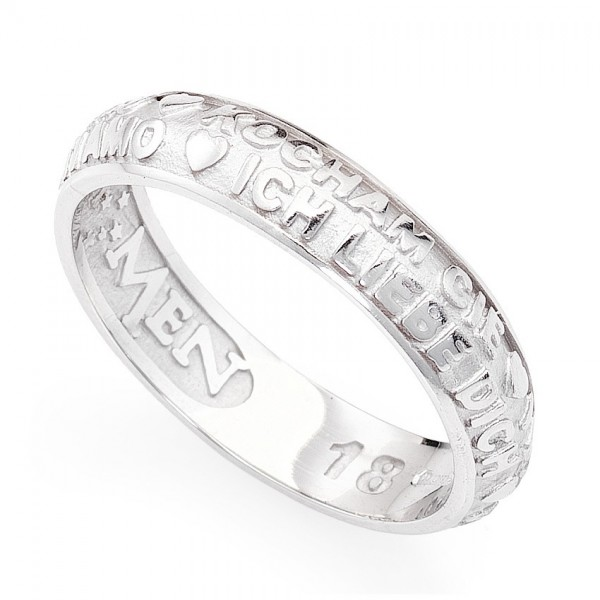 AMEN Ring Silber Gr. 58 ATAB-18