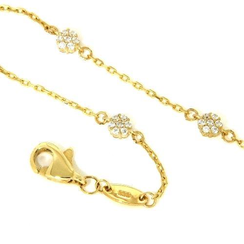Armband Gold 333 19 cm Zirkonia