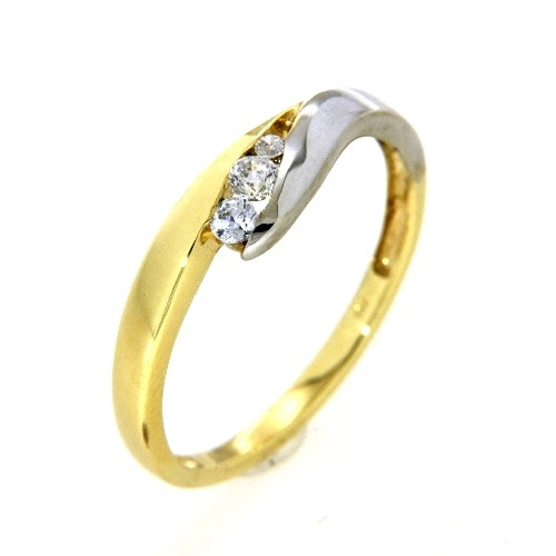 Ring Gold 333 bicolor Weite 58