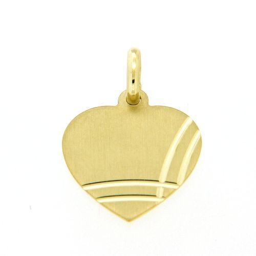 Herzgravurplatte Gold 333