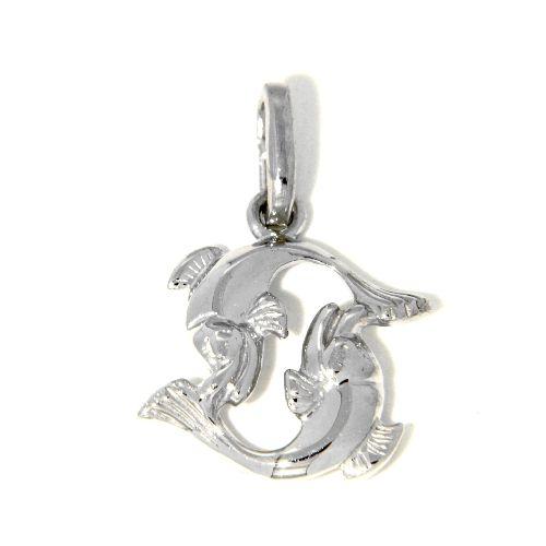 Tierkreiszeichen Silber 925 Fische rhodiniert