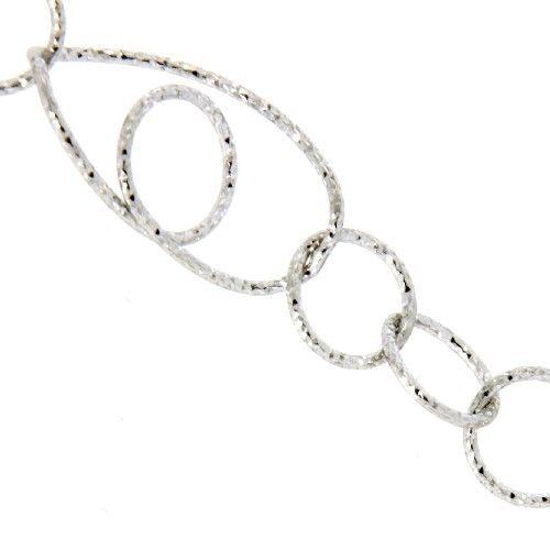 Kette Silber 925 rhodiniert 80 cm