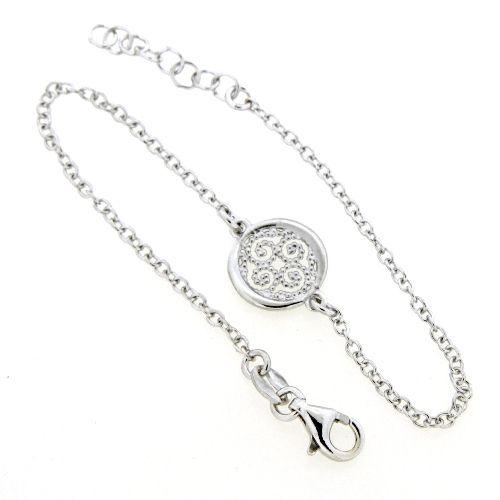 Armband Silber 925 rhodiniert 17+2 cm Lebensblume