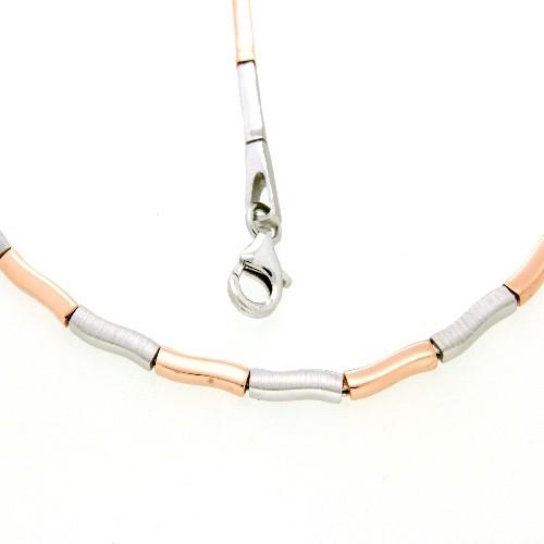 Kette Silber 925 rhodiniert & rosé vergoldet 50 cm