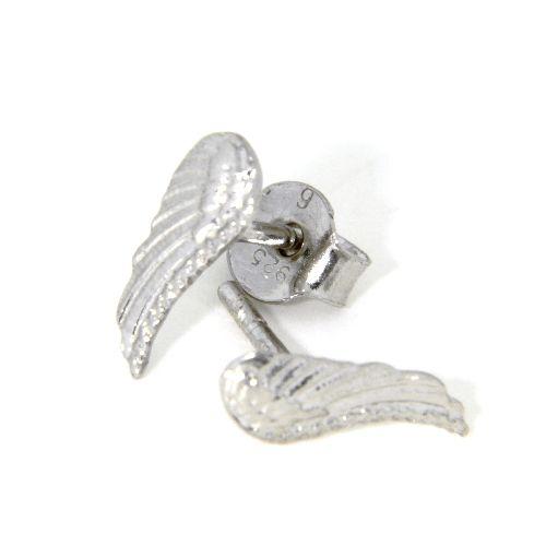 Ohrstecker Silber 925 rhodiniert Engelsflügel