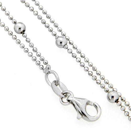Fußkette Silber 925 rhodiniert 23 cm + 3 cm