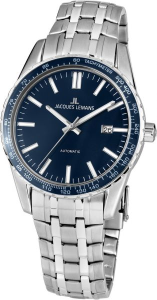 Jacques Lemans Herren-Armbanduhr Liverpool Automatic 1-2075F