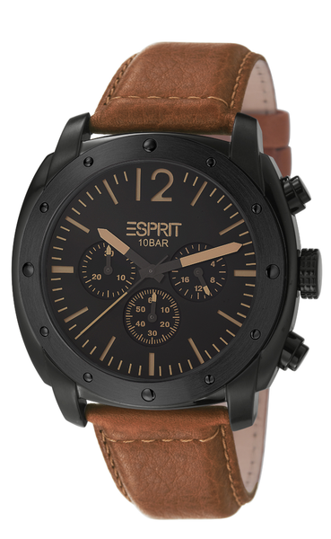 ESPRIT Armbanduhr baker chrono brown ES106391003 B-Ware