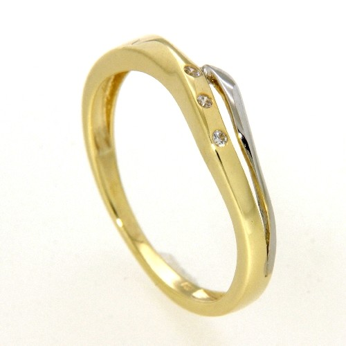 Ring Gold 333 bicolor Weite 56