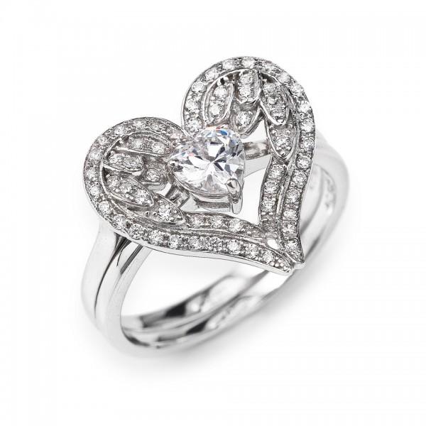 AMEN Ring Silber Herz Gr. 58 RWH1-18