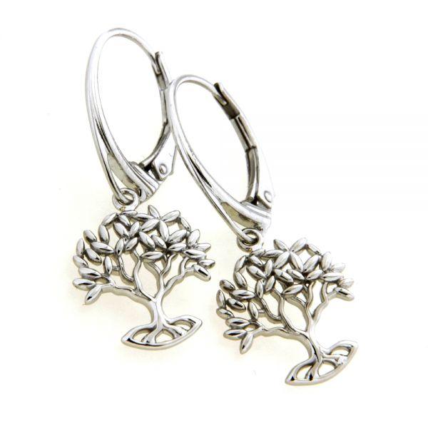 Ohrpendel Silber 925 rhodiniert Lebensbaum