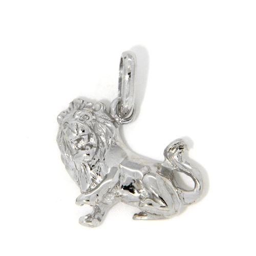 Tierkreiszeichen Silber 925 Löwe rhodiniert