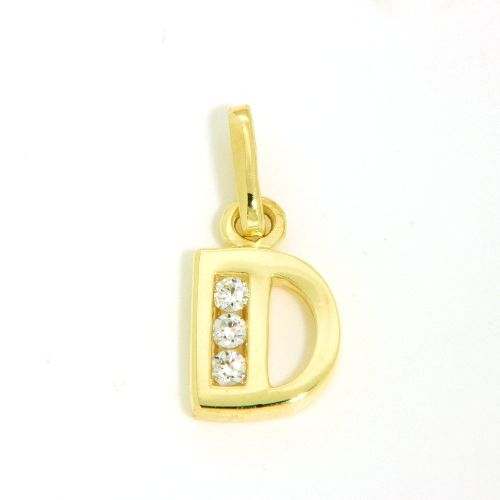 Buchstaben-Anhänger D Gold 333