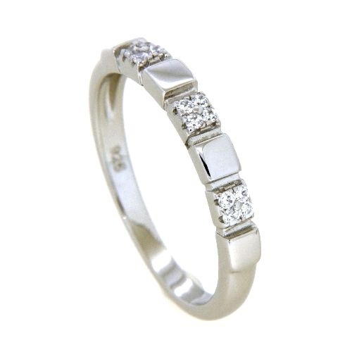 Ring Silber 925 rhodiniert Weite 60 Zirkonia