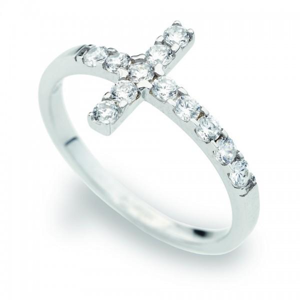 AMEN Ring Silber Kreuz Gr. 58 ACOBB-18