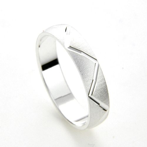 Freundschaftsring Silber 925 Breite 4 mm Weite 66