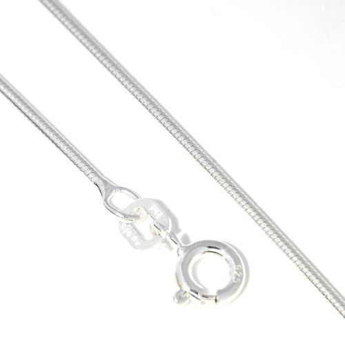 Schlangenkette Silber 925 1,1mm rund 40 cm