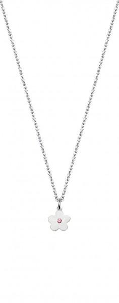SCOUT Halskette silber, weiß Blumen 261104200