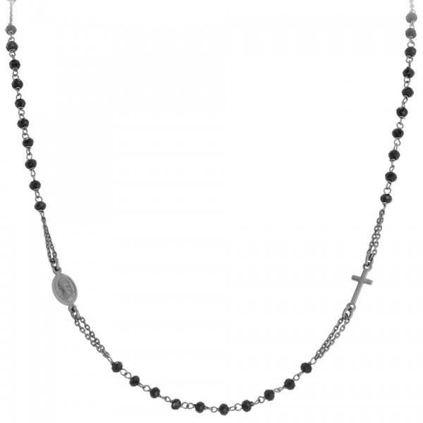 AMEN Kette 50 + 3 cm Silber Rosenkranz CRONN3