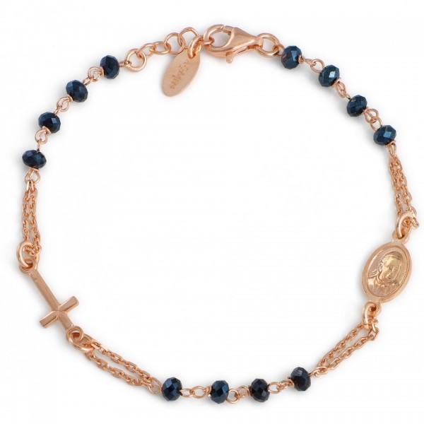 AMEN Armband 18 + 2 cm Silber Rosenkranz BRORG3