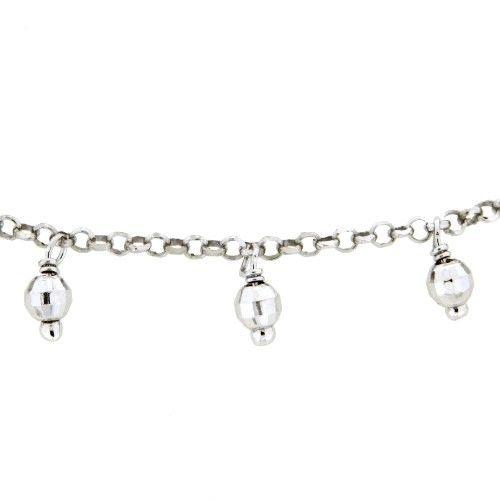 Kette Silber 925 rhodiniert 42 cm + 3 cm