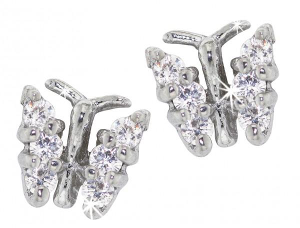 SCOUT Ohrschmuck mit Cubic Zirkonia Schmetterlinge 262000004