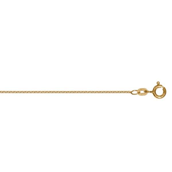 Rundankerkette 1,1 mm 333 Gelbgold 36 cm