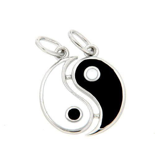 Partneranhänger Silber 925 rhodiniert Yin & Yang