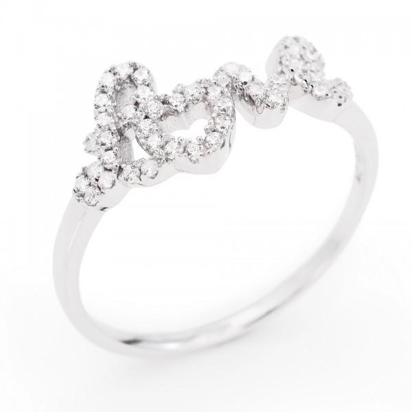 AMEN Ring Silber Gr. 58 RLO-18