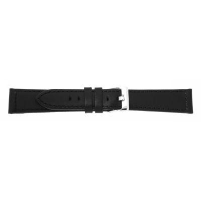 Lederband 26mm schwarz Edelstahlschließe