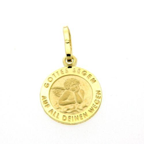 Anhänger Gold 333 Schutzengel