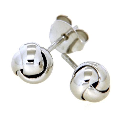 Ohrstecker Silber 925 rhodiniert Knoten