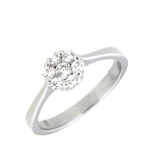 Ring, Silber 925 rhodiniert Weite 54